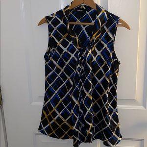 ✨EUC - Nine West Sleeveless Sheer Top Size Large